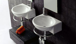 Bathroom Trading Company - igloo 51cm basin tap hole right with towel rail - Lavabo Suspendu