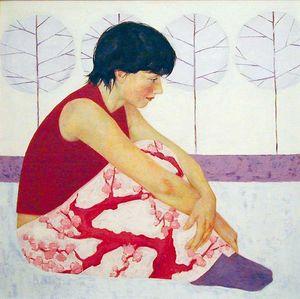 Art From Scotland - lilac fall by kelly-anne cairns - Reproduction De Tableau À La Main