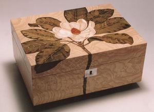 Anita Marquetry - magnolia box - Coffret À Bijoux