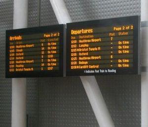 Infotec - p1083 summaries departues/arrivals - Panneau D'affichage �lectronique