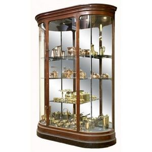 Worldwide Reproductions - stunning edwardian mahogany glazed shop display ca - Vitrine Droite