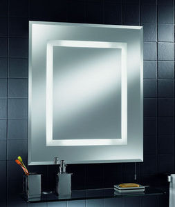 Oberoi Brothers Lighting - energy saving bathroom mirror with shaver socket - Miroir Lumineux