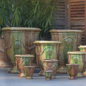 Le Chene Vert - tradition flammé - Vase D'anduze
