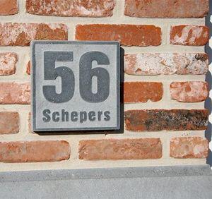 Signum Concept - style 5 - Plaque Nom De Maison