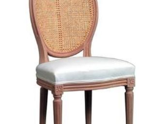 Gilles Nouailhac - chaise louis xvi m�daillon dos cann� - Chaise M�daillon