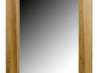 MEUBLES ZAGO - miroir rectangle frêne essentielle - Miroir