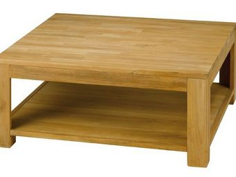 MEUBLES ZAGO - table basse carrée teck absolue - Table Basse Carrée