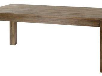 MEUBLES ZAGO - table teck gris� cosmos 160 cm avec allonge - Table De Repas Rectangulaire