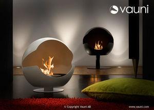 VAUNI - globe granite white - Cheminée Sans Conduit D'évacuation
