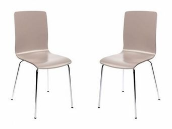 Miliboo - lot de 2 chaises taupe nelly - Chaise