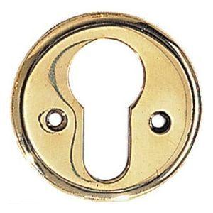 FERRURES ET PATINES - entree de clef ronde en laiton - trou de cylindre  - Entrée De Meuble