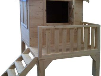 BARCLER - maison enfant pitchoun surélevée 190x150x298cm - Maison De Jardin Enfant