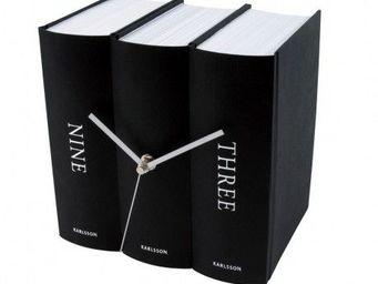 Karlsson Clocks - karlsson - horloge book - karlsson - noir - Réveil Matin