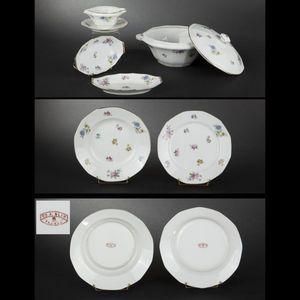 Expertissim - service de table en porcelaine de limoges à décor  - Plat De Présentation