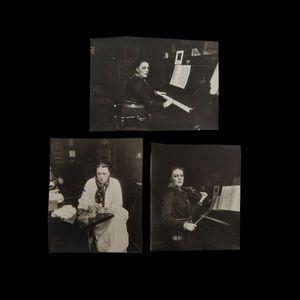Expertissim - delarue-madrus lucie (1874-1945), jouant du piano, - Photographie