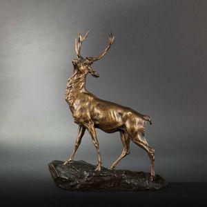 Expertissim - thomas-françois cartier (1879-1943). cerf - Sculpture Animalière
