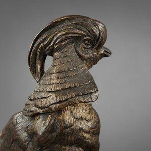 Expertissim - faisan doré en bronze - Sculpture Animalière