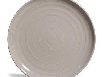 Maisons du monde - assiette plate manosque gris - Assiette Plate
