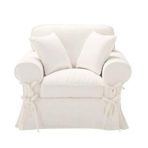 Maisons du monde - fauteuil ivoire butterfly - Fauteuil