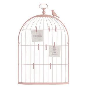Maisons du monde - pêle mêle cage oiseau rose petit modèle - Pêle Mêle