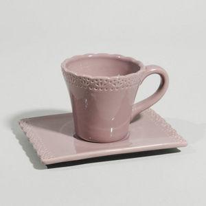 Maisons du monde - tasse à café romance prune - Tasse À Café