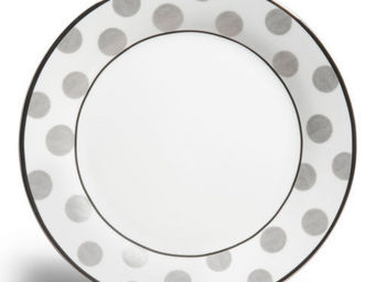 Maisons du monde - assiette plate mixed pois - Assiette Plate