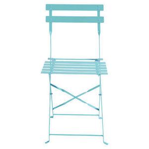 MAISONS DU MONDE - lot de 2 chaises turquoise confetti - Chaise De Jardin