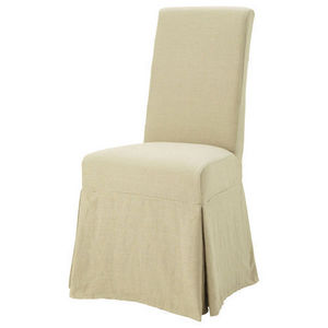 Maisons du monde - housse lin ficelle margaux - Chaise