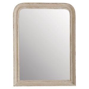 Maisons du monde - miroir elianne arrondi beige 60x80 - Miroir