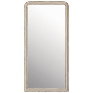 Maisons du monde - miroir elianne arrondi beige 90x180 - Miroir