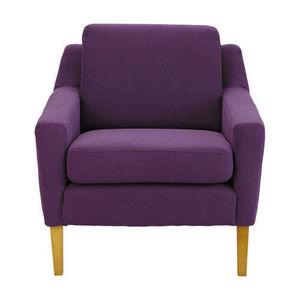 Maisons du monde - fauteuil linara violet mad men - Fauteuil