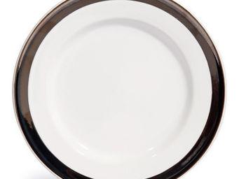 Maisons du monde - assiette plate orion blanche - Assiette Plate