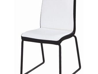 CLEAR SEAT - chaise blanche et noire simili cuir husky - Chaise