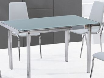 CLEAR SEAT - table en verre rectangle fosco - Table De Repas Rectangulaire