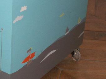 ICI LA TERRE - coffre à jouets à roulettes en bois - hawaï - Coffre À Jouets