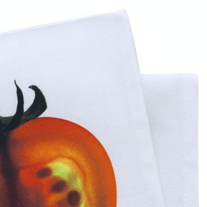 TROIS MAISON - serviette de table fruit en coton - modèle tomate - Serviette De Table