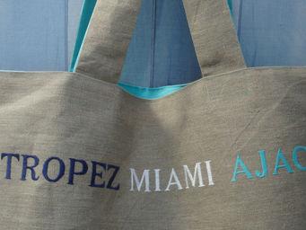 L'atelier D'anne - sac personnalis� en toile de lin - Cabas
