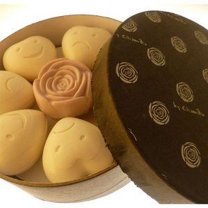 CITIZEN BIO - coffret 7 savons coeurs et 1 rose - pour le meille - Savon