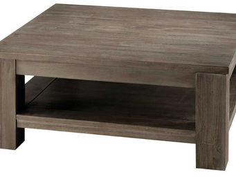 ZAGO - table basse carrée en teck teinté 85x85x38cm - Table Basse Carrée