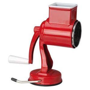La Chaise Longue - râpe 5 lames en métal rouge 14x10x23cm - Hachoir Électrique