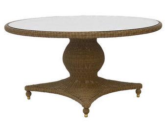 Alexander Rose - table ronde colonial avec pied central et plateau - Table De Repas Ronde