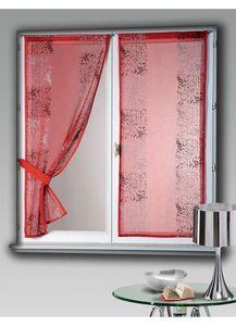 HOMEMAISON.COM - paire de vitrage en étamine brodé tratoria - Voilage