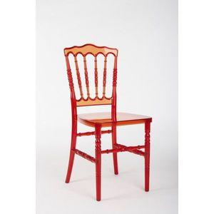 DECO PRIVE - chaise napoleon rouge transparente - Chaise