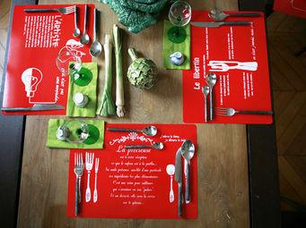 DANS TETE - set de table orange glacée - Set De Table