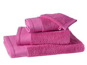BLANC CERISE - drap de bain - coton peigné 600 g/m² - uni - Drap De Bain