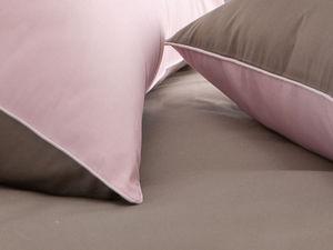 BLANC CERISE - taie d'oreiller rectangulaire - percale (80 fils/ - Taie D'oreiller