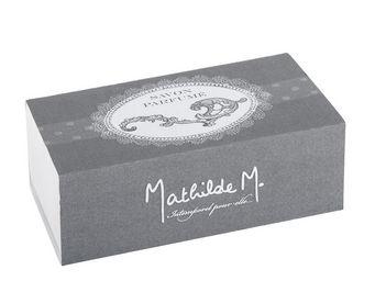 Mathilde M - bo�te savon ovale arabesque, parfum fleur de coton - Savon