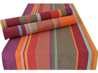 Les Toiles Du Soleil - double set de table collioure rouge - Set De Table