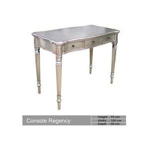 DECO PRIVE - console en bois argente baroque regency - Console