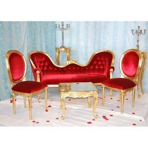 DECO PRIVE - decor dore et rouge pack 11 - Salon